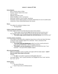 ENG 1120 Lecture Notes - Lecture 3: French Revolution, Adverb, Preposition And Postposition