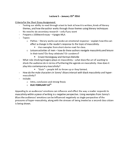 ENG 1120 Lecture Notes - Lecture 5: Herman Melville, Ernest Hemingway, Pathos
