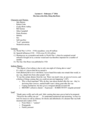 ENG 1120 Lecture Notes - Lecture 6: Pedro Romero, Iceberg Theory, 1918 Flu Pandemic