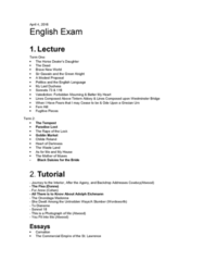English 1022E Study Guide - Final Guide: Leat, Anne Michaels, Jonathan Swift