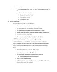 ENGL 260 Study Guide - Final Guide: Ahaz, Human Frailty, Tribe Of Benjamin