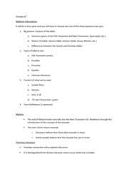 ENGL 260 Lecture Notes - Lecture 12: Israelites, Bishops' Bible, Geneva Bible