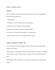 HIST 101 Chapter Notes - Chapter 18: Cape Colony