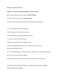 HIST 101 Chapter Notes - Chapter 18: Sun Yat-Sen