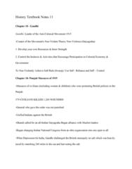HIST 101 Chapter Notes - Chapter 18: Mahatma Gandhi