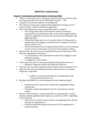 RSM427H1 Chapter Notes - Chapter 2: Critical System, Audit Risk, Antivirus Software