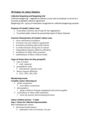 HROB 2100 Study Guide - Final Guide: Labor Management Relations Act Of 1947, Bargaining Unit, Secret Ballot
