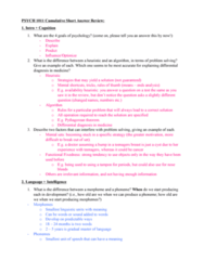 PSYC 1011 Study Guide - Final Guide: Pythagorean Theorem, Flynn Effect, Fluid And Crystallized Intelligence