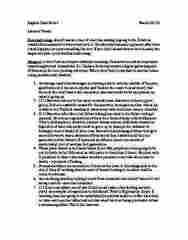 ENG 1120 Lecture Notes - Lecture 10: Atavism, Testicular Cancer, Tantrum