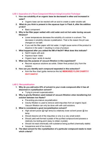 CHMB41H3 Study Guide - Fall 2014, Final - 2-Step Garage