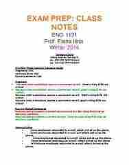 ENG 1131 Study Guide - Final Guide: Indefinite Pronoun, Richard Hauptmann, Nominative Case