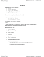Geography 2060A/B Study Guide - Final Guide: Blue Banana, Planned Community, Unix System Iii