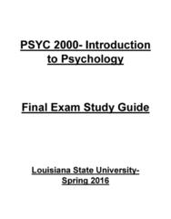 PSYC 2000 Study Guide - Final Guide: Auditory Cortex, Visual Cortex, Frontal Lobe