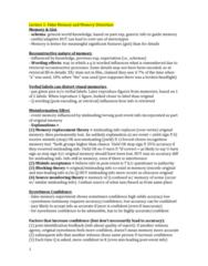 PSYC 3265 Study Guide - Final Guide: Eyewitness Testimony, Eyewitness Identification, Olfactory Bulb