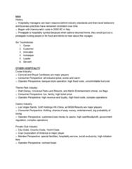 SHA HF 200 Study Guide - Final Guide: Franchising, Tripadvisor, Concept2