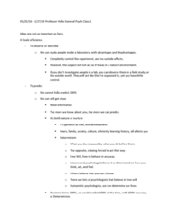PSY 110 Lecture Notes - Lecture 1: Selective Serotonin Reuptake Inhibitor, Holle, Lucid Dream