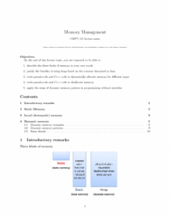 CMPT 115 Lecture Notes - Lecture 4: Call Stack, Runtime System, Memory Address