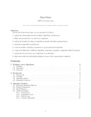 CMPT 115 Lecture Notes - Lecture 2: Pseudocode, Dynamic Array, Bubble Sort
