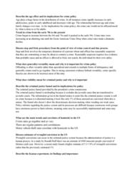 CRM/LAW C106 Study Guide - Midterm Guide: Motor Vehicle Theft, Reasonable Suspicion, Homicide