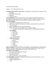 SASM 3760 Study Guide - Final Guide: Press Release, Takers, Composite Video