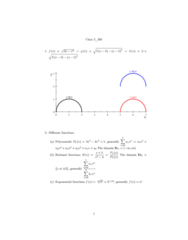 MATH 203 Lecture Notes - Lecture 2: Classification Of Discontinuities, Asymptote, Inverse Trigonometric Functions