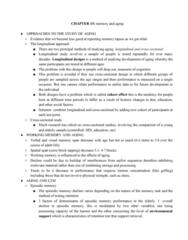 PSYC 3265 Chapter Notes - Chapter 15: Dentate Gyrus, Longitudinal Study, Episodic Memory