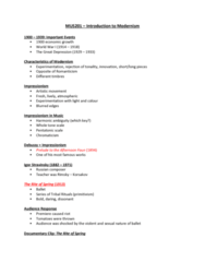 MUS 201 Lecture Notes - Lecture 10: Nikolai Rimsky-Korsakov, Whole Tone Scale, Bass Clarinet