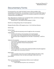 MPS 608 Lecture 4: 4. Documentary Forms