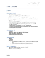 MPS 608 Lecture 10: 10. Final Lecture
