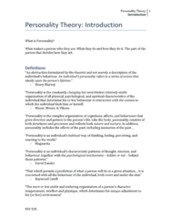 PSY 505 Lecture Notes - Lecture 1: Ophanim, Jordaan, Psychopathology