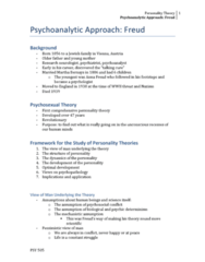 PSY 505 Lecture Notes - Lecture 2: Oedipus Complex, Ego Ideal, Social Reality