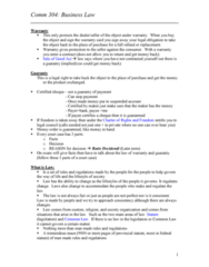 COMM 304 Final: Business Law Shared Notes 1