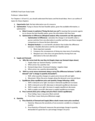 ECON101 Study Guide - Final Guide: Absolute Advantage, Invisible Hand, Natural Monopoly