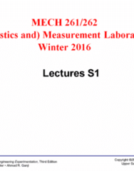 MECH 262 Lecture Notes - Lecture 1: Data Set, Seta, Frequency Distribution