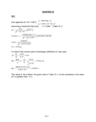 MECH 262 Study Guide - Final Guide: University Of Manchester, Inlet Cone, Discharge Coefficient