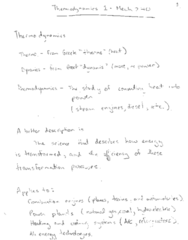 MECH 240 Lecture Notes - Lecture 1: Thermodynamics