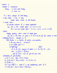 STAT333 Lecture Notes - Lecture 2: Sample Space
