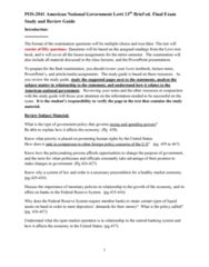 POS 2041 Study Guide - Final Guide: Open Market Operation, Microsoft Powerpoint, Arson