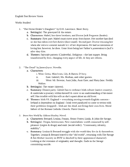 English 1022E Lecture Notes - Lecture 20: Aldous Huxley, Utopia, Mimesis