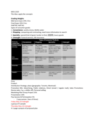 Business Administration 3301K Lecture Notes - Lecture 1: Sales Promotion, Situation Two, Retail