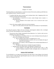PSYC 211 Chapter Notes - Chapter 6.1: Ganglion Cell Layer, Vergence, Sclera