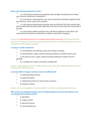 PSYB57H3 Study Guide - Quiz Guide: Parietal Lobe, Temporal Lobe, Lateral Inhibition