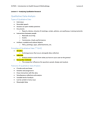 HLTB15 Lecture 6: Analyzing Qualitative Research