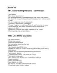 ENG 1100 Lecture Notes - Lecture 11: Hills Like White Elephants