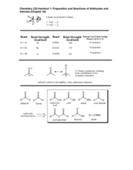 CHEMК22200 Lecture 1: Handout 1(15)