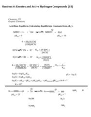 CHEM 22200 Lecture Notes - Lecture 6: Pi Bond, Sodium Hydroxide, Equilibrium Constant