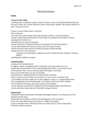 REL 399 Lecture Notes - Lecture 30: Institute For Operations Research And The Management Sciences, African-American Culture, Black Panther