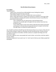REL 399 Lecture Notes - Lecture 18: African Diaspora