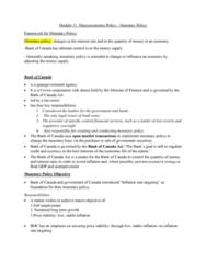 ECO102 Lecture Notes - Lecture 11: Longrun, Excess Reserves, Ceteris Paribus