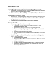 HKIN 241 Lecture 16: Sport Managment - March 7, 9,11